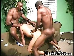J and two giant black cocks