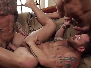 Long toy in anal and cum gay With his cum plowed out of him,