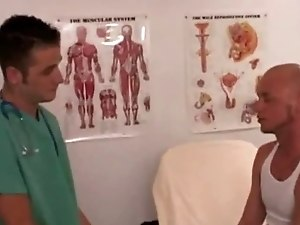 Military guys physicals gay porn I slurped the doctor's