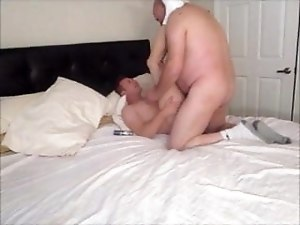 big BALD old DAD fucksBARE younger male SLUT